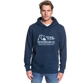 Quiksilver Nelson Sun Screen Fleece Hoodie Heren, moonlit ocean